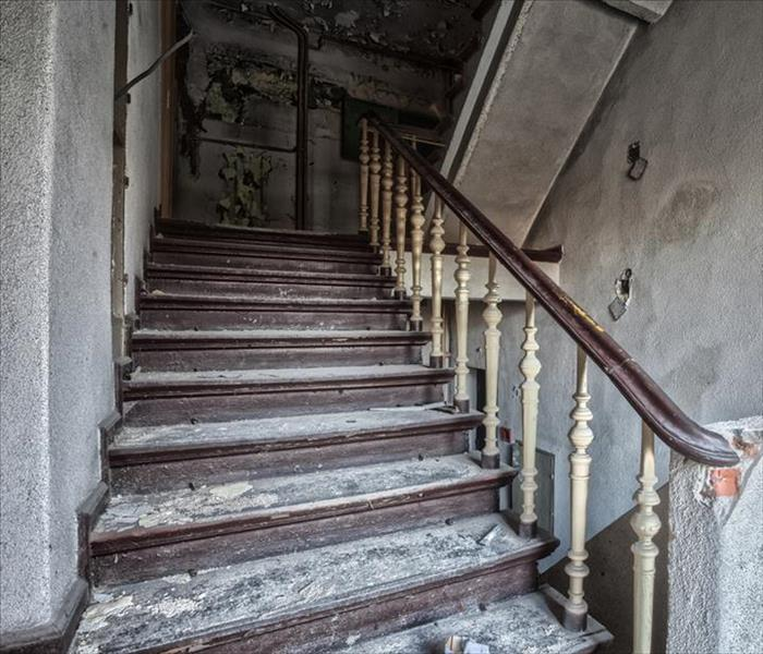 Fire Damaged Stairwell