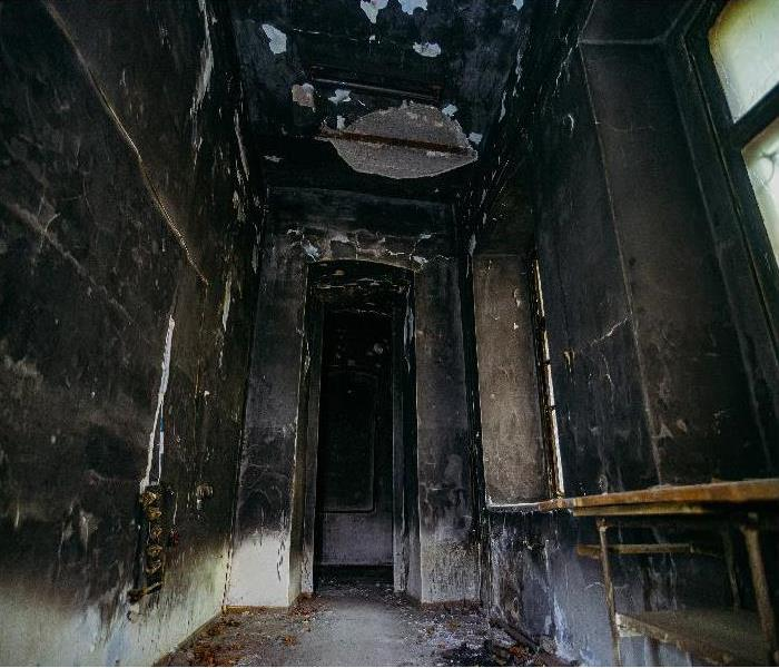 burnt home interior after fire